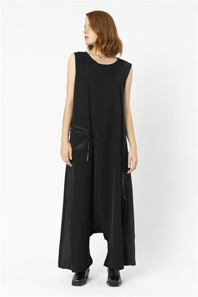 MiiN Black Crew Neck Harem Jumpsuit